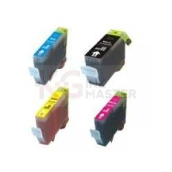 4 Pack Compatible Canon BCI-3e Ink Cartridge Set (1BK,1C,1M,1Y