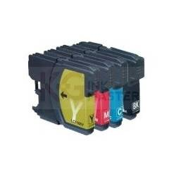 4 Pack Compatible Brother LC-563 Ink Cartridge Set (1BK,1C,1M.1Y)