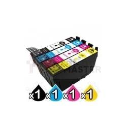 4 Pack Epson T1841,T842,T1843,T1844 Compatible High Yield Ink Cartridges [BK, C, M, Y]