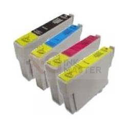 4 Pack Compatible Epson T0751 T0752 T0753 T0754 Ink Cartridge Set