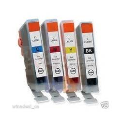 4-Pack Canon CLI-8 Compatible Inkjet (with Chip) [BK+C+M+Y]