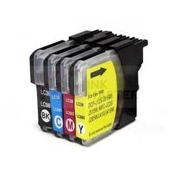 4 Pack Compatible Brother LC-39 Ink Cartridge Set (1BK,1C,1M,1Y)