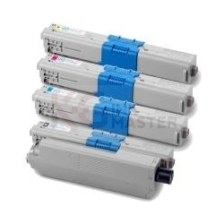 4 Pack Compatible OKI C301 C321 Toner Cartridge Set for OKI C301dn